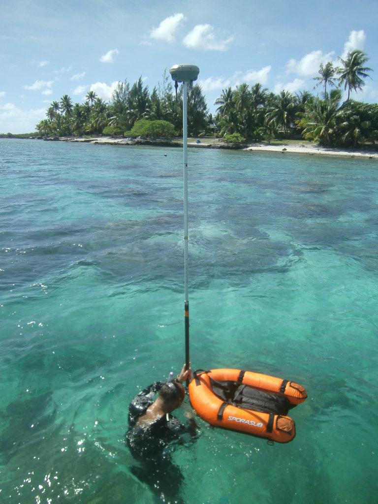 GPS en lagon